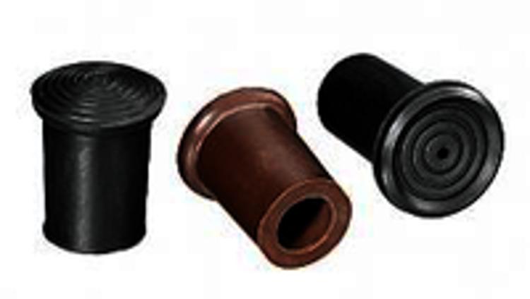 Mynd Gúmmí á staf, svart 14mm