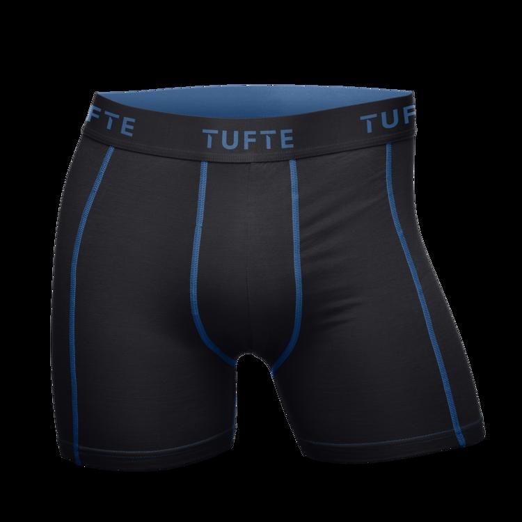Mynd Tufte Bambus Boxer karla svartar/bláar