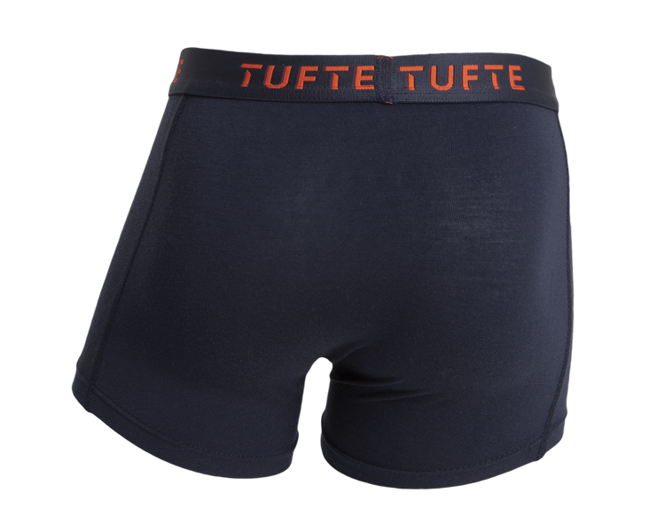 Mynd Tufte Bambus Boxer drengja bláar/appelsínugular