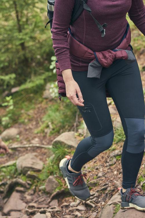 Mynd Tufte Hiking Tights kvenna svartar