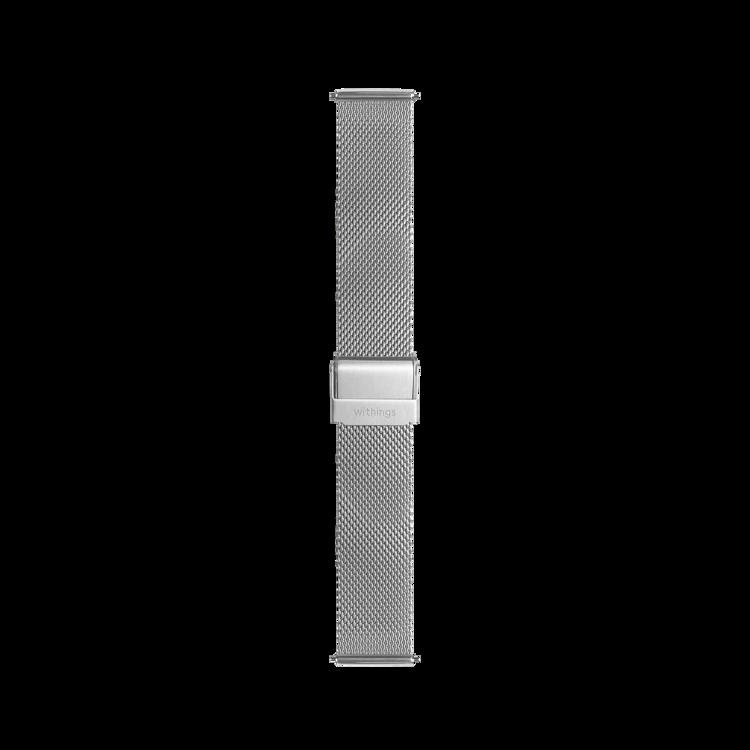 Mynd Withings 18mm Silfur ól