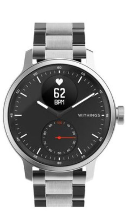 Mynd Withings 20mm Oyster Silfur ól