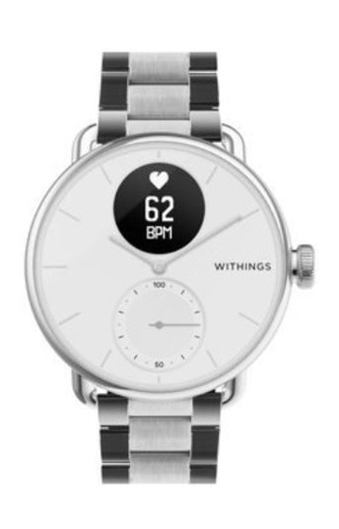 Mynd Withings 18mm Oyster Silfur ól