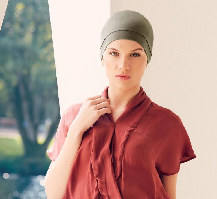 Mynd Christine - Laura - V-turban - Olive green