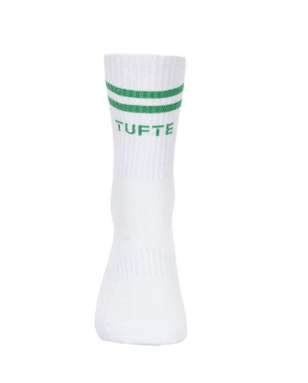 Mynd Tufte Almelav sokkar hvítir/grænir