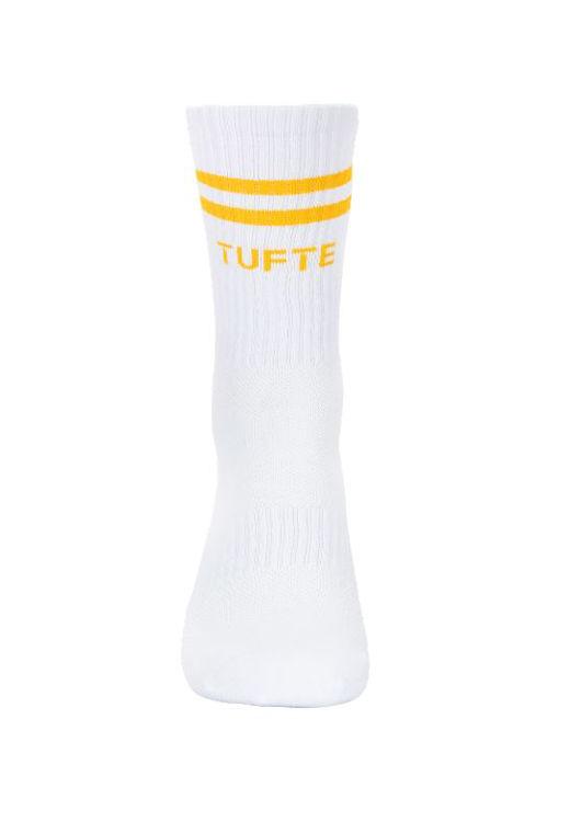 Mynd Tufte Almelav sokkar hvítir/gulir