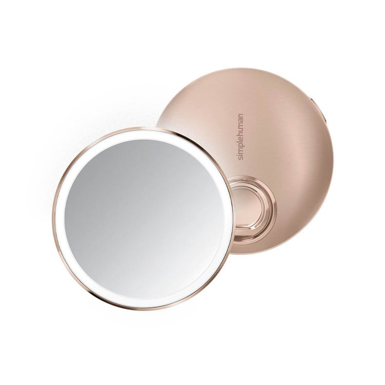 Mynd simplehuman Sensor 3X ferðaspegill 10cm Rose Gold